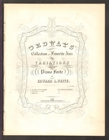 1848 Ordway's Collection Of Favorite Airs Edward L White