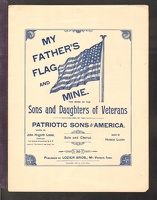 1890 My Father's Flag And Mine John Hogarth Lozier Horace Lozier Mt Vernon IA