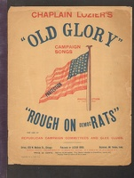 1892 Old Glory Republican Campaign Song Book Mt Vernon IA