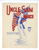 1898 Uncle Sam March H W Petrie