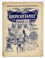 1899 American Family March A E Groves Madison WI