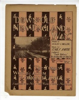 1899 Down Old New England Way Paul West Harry S Miller Emily Smith Newsprint
