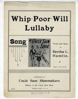 1899 Whip-Poor-Will Lullaby Bertha L Hamlin Uncle Sam Shoes Boston MA