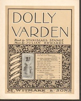 1901 Dolly Varden Title Song from Dolly Varden Lulu Glaser Stanislaus Stange Julian Edwards