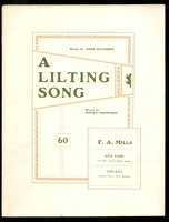1901 Lilting Song John Davidson Sidney Thompson