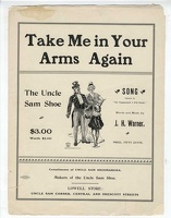 1901 Take Me In Your Arms Again J H Warner Uncle Sam Shoes Lowell MA