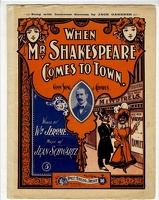 1901 When Mr Shakespeare Comes To Town Wm Jerome Jean Schwartz