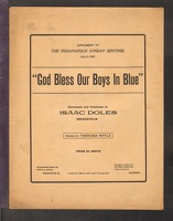 1902 God Bless Our Boys In Blue Isaac Doles Indianapolis IN