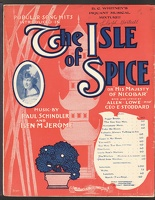 1904 Maid From Nicobar from The Isle of Spice Allen Lowe Geo E Stoddard Paul Schindler Ben M Jerome