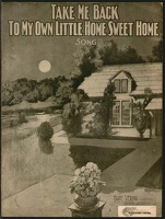 1904 Take Me Back To My Own Little Home Sweet Home Harry Verona