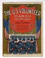 1904 U S Volunteer March On Review Chas E Lepaige