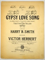 1906 Gypsy Love Song from The Fortune Teller Harry B Smith Victor Herbert
