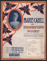 1906 Hottentot Love Song from Marrying Mary Marie Cahill Benj Hapgood Burt Silvio Hein