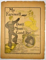 1906 My Farewell Don't Mean Good-bye Frank A. Nankivell Grace Dean Aaron Feist Herbert Walters Newsprint