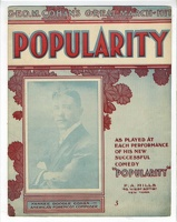 1906 Popularity Title Song From Popularity George M Cohan