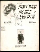 1906 That's What The Rose Said To Me Frank Morrill Leo Edwards B F Barnett