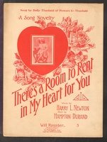 1906 There's A Room To Rent In My Heart For You Dolly Theobald Harry L Newton Hampton Durand