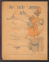 1906 Uncle Sammy Girls Richard H Gerard Newsprint
