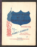 1907 Just A Bit Of Cloth But It's Red White And Blue Harry C Eldridge Franklin OH