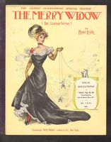 1907 Won't You Be My Sweetheart For I Love You So from The Merry Widow Franz Lehar