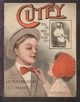 1909 Cutey Tell Me Who Tied Your Tie Virginia Ruth Arthur Longbrake Ed Edwards