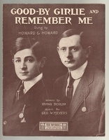 1909 Good-By Girlie And Remember Me Howard Bros Irving Berlin Geo W Meyers