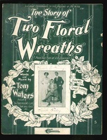 1909 Two Floral Wreaths Burrows Travis Co Tom Waters J E Dempsey