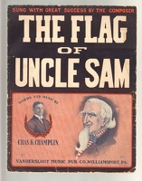 1910 Flag Of Uncle Sam Chas K Champlin Williamsport PA
