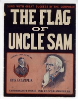 1910 Flag Of Uncle Sam Dittmar Chas K Champlin Williamsport PA