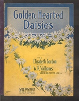 1910 Golden Hearted Daisies Elizabeth Gordon W R Williams Chicago IL