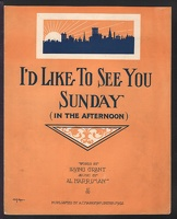 1910 I'd Like To See You Sunday Irving Grant Al Harriman Boston MA
