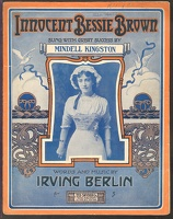 1910 Innocent Bessie Brown Mindell Kingston Irving Berlin