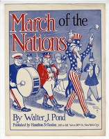 1910 March Of The Nations Raymond Carter Walter J Pond