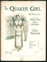 1910 Quaker Girl Lionel Monckton Adrian Ross Percy Greenbank