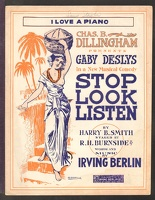 1915 I Love A Piano from Stop Look Listen Irving Berlin Harry B Smith