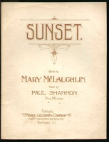 1915 Sunset Mary McLaughlin Paul Shannon Washington DC