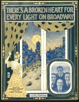 1915 There's A Broken Heart For Every Light On Broadway Avon Comedy Four Howard Johnson Fred Fischer