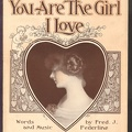 1915 You Are The Girl I Love Fred J Federline Buffalo NY