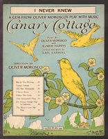 1916 I Never Knew from Canary Cottage Earl Caroll Oliver Morosco Elmer Harris