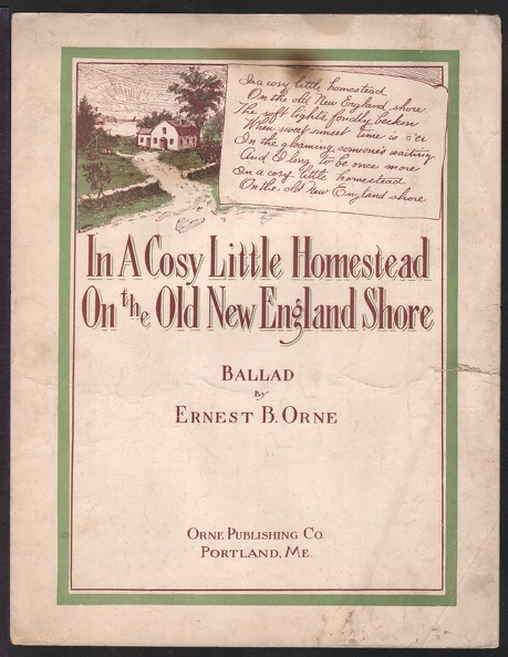 1916 In A Cosy Little Homestead On The Old New England Shore Ernest B OrneOrne Portland ME.jpg