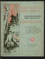 1916 May Days Grey Days Percy Elliott London England