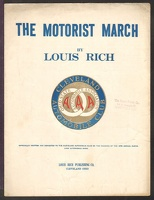 1916 Motorist March Cleveland Automobile Club Louis Rich