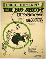 1916 Poor Butterfly from The Big Show at the New York Hippodrome Burton Rice John L Golden Raymond Hubbell