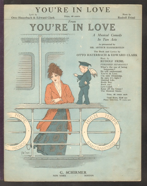 1916 You_re In Love Title Song Otto Hauerbach Edward Clark Rudolf Friml.jpg