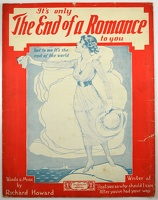 1918 It's Only The End Of A Romance To You Richard Howard Boston MA