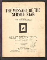 1918 Message Of The Service Star Wesley Warren Smith