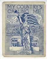 1918 My Country's Calling Me Walter Spomage Ervin R Miller Chas F Roberts