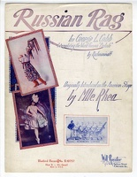 1918 Russian Rag Mlle Rhea Six Brown Brothers George L Cobb Rachmaninoff