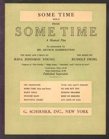 1918 Some Time Title Song Mae West Rida Johnson Young Rudolf Friml