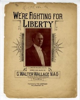 1918 Were Fighting For Liberty G Walter Wallace Williamsport PA